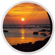 Round Beach Towel featuring the photograph Sunrise Therapy by Dianne Cowen