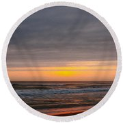 Sunrise Under The Clouds Round Beach Towel