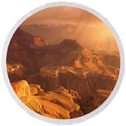 Sunrise View From Hopi Point Grand Round Beach Towel