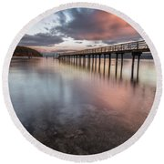 Round Beach Towel featuring the photograph Sunset - Mayne Island by Jacqui Boonstra