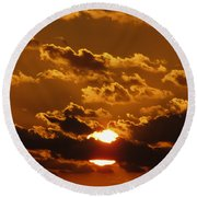 Sunset 5 Round Beach Towel