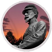 Sunset At Gettysburg  Round Beach Towel