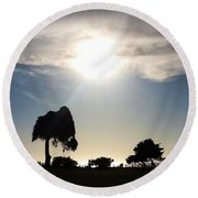 Sunset At La Jolla Round Beach Towel by Susan Garren