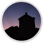 Sunset At The Gate Round Beach Towel