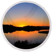 Sunset At The James M. Robb State Park Round Beach Towel
