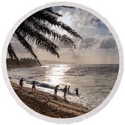 Sunset Beach Park Round Beach Towel