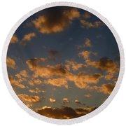 Sunset Clouds Round Beach Towel