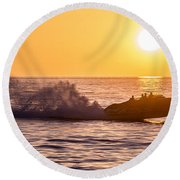 Sunset Cruise Round Beach Towel