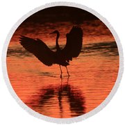 Sunset Dancer Round Beach Towel