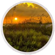 Sunset Dunes Round Beach Towel