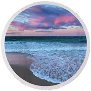 Sunset East Square Round Beach Towel