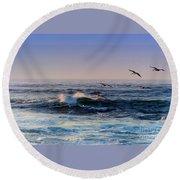 Sunset Fly Round Beach Towel by Kathy Bassett