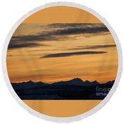 Sunset From 567 Round Beach Towel