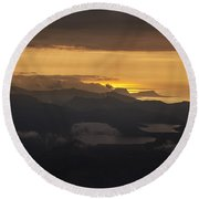 Round Beach Towel featuring the photograph Sunset by Gunnar Orn Arnason