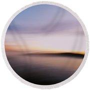 Sunset Island Dreaming Round Beach Towel