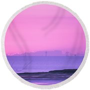 Sunset Round Beach Towel by Spikey Mouse Photography