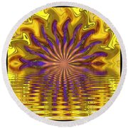 Sunset Of Sorts Round Beach Towel