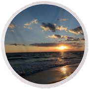 Sunset On Alys Beach Round Beach Towel by Julia Wilcox