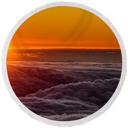 Sunset On Cloud City 1 Round Beach Towel