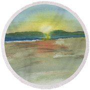 Sunset On Hilton Head Island Round Beach Towel by Frank Bright