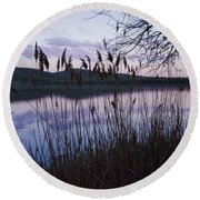 Sunset On Rockland Lake - New York Round Beach Towel