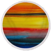 Sunset On The Puget Sound Round Beach Towel