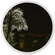 Round Beach Towel featuring the photograph Sunset On Tioman Island by Sergey Lukashin