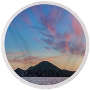 Round Beach Towel featuring the photograph Sunset Over Cabo by Sebastian Musial