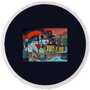 Sunset Over Howth Round Beach Towel
