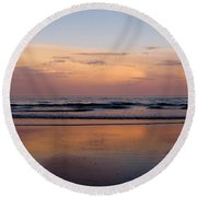 Sunset Over Long Sands Beach II Round Beach Towel
