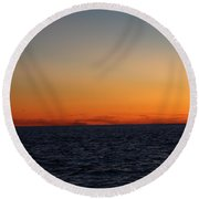 Sunset Over Point Lookout Round Beach Towel by John Telfer