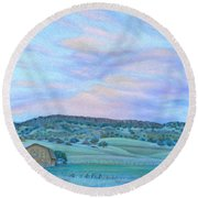 Sunset Over Table Mountain Round Beach Towel