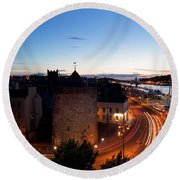 Sunset Over Waterford City, County Round Beach Towel