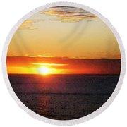 Sunset Painting - Orange Glow Round Beach Towel