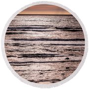 Sunset Ocean Round Beach Towel