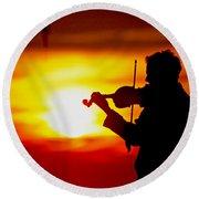 Round Beach Towel featuring the photograph Sunset Violin Serenade Louisiana by Luana K Perez