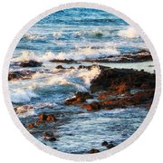 Sunset Shore Round Beach Towel