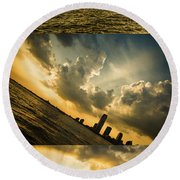Sunset Trilogy Round Beach Towel