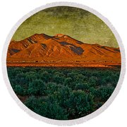 Sunset V Round Beach Towel