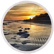 Sunset Wild Dunes Beach South Carolina Round Beach Towel