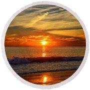 Sunset's Glow  Round Beach Towel