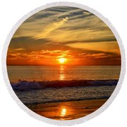 Sunset's Glow  Round Beach Towel