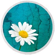 Sunshine Daisy Round Beach Towel
