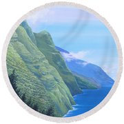 Sunshine In The Shade Round Beach Towel
