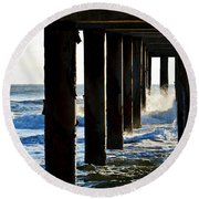 Sunwash At St. Johns Pier Round Beach Towel