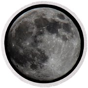 Super Moon 2014 Round Beach Towel