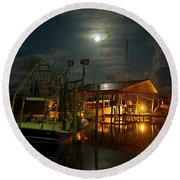 Super Moon At Nelsons Round Beach Towel