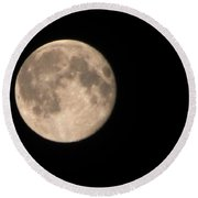 Round Beach Towel featuring the photograph Super Moon by David Millenheft