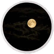 Super Moon Round Beach Towel by Spikey Mouse Photography
