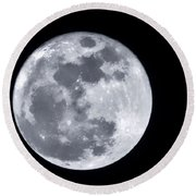 Super Moon Over Arizona  Round Beach Towel by Saija  Lehtonen